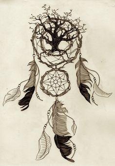 dreamcatcher sketch tree
