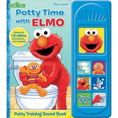 """Sesame Street """"potty Time With Elmo"""" Little Sound Book - Get your little one involved in the potty training learning process with the Sesame Street """"Potty Time with Elmo"""" Little Sound Book. It has engaging sounds and story spreads which will encourage your child to try the potty on their own."""