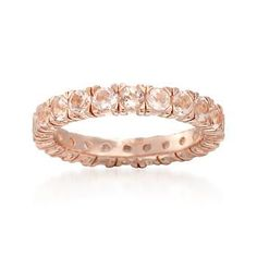 Soft and feminine, this eternity band glows with warm pink tones. 1.90 ct. t.w. morganite encircles a beautiful 14kt rose gold over sterling silver ring. Free shipping & easy 30-day returns. Fabulous jewelry. Great prices. Since 1952.