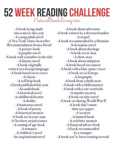 The Best 52 Week Reading Challenge Everyone Will Love An Epic Reading Challenge Everyone Will Love, 52 Weeks of book ideas perfect for yourself, your family, or a book club. Take the time to enjoy reading again, free printable I Love Reading, Kids Reading, Love Book, Reading Lists, Book Lists, Free Reading, Reading Bingo, Reading Books, Book Club Books