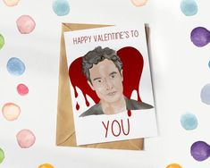 YOU Netflix Valentines Card, Happy Valentine's To YOU, Penn Badgley, Netflix Valentines day card Xmas Greeting Cards, Xmas Greetings, Funny Christmas Cards, Christmas Humor, Valentines Card Design, Penn Badgley, Brown Envelopes, Christmas Gift Wrapping, Friends In Love