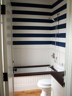 Stripe Designs For Walls Bathroom Html on stripe designs for dining rooms, designs painted striped walls, striped bathroom walls,
