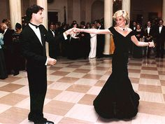 Princess Diana and John Travolta dancing at the White House - This is one of my all time favorite photos!