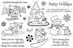 Snowy Days stamp set!    There She Goes stamps
