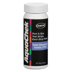 These AquaChek TDS (Total Dissolved Solids) test strips from Hach will test your pool and spa water for Total Dissolved Solids. Prevent hazy water, scale buildup and corrosion cause by high levels of Total Dissolved Solids.
