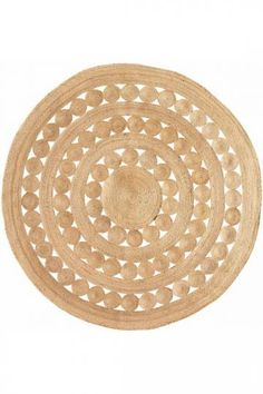 8' Soleil Round Hemp Rug  Add Eco-Friendly Fashion to Your Floors with Natural-Fiber Rugs $62.99