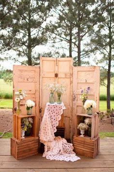 I adore everything about this sweet vignette - Tin Roof Farmhouse: Five Faves for Friday…Real Weddings