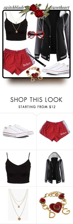"""""""Standard Features 154"""" by antoniasalvato ❤ liked on Polyvore featuring Converse, Glamorous, Boohoo and Dolce&Gabbana"""
