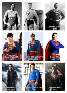 Superman through the years
