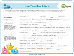 Free Printable Mad Libs New years Resolutions for Kids