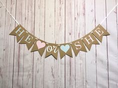 He or She Gender Reveal Banner, Boy or Girl Banner, Gender Reveal Party Decorations, Baby Shower Ban Gender Reveal Banner, Gender Reveal Balloons, Gender Reveal Party Decorations, Baby Gender Reveal Party, Baby Shower Decorations, Birthday Photo Banner, First Birthday Photos, 1st Birthday Girls, Blue Balloons