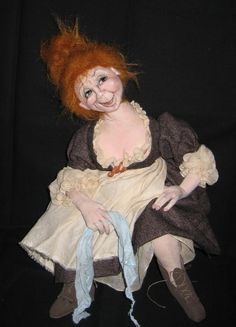 Jeanne The Innkeeper's Wife Art Doll by Sharon F. Mitchell