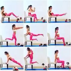 How to burn fat at home - Glutes workout - health & fitness Fitness Home, Sport Fitness, Body Fitness, Physical Fitness, Health Fitness, Fitness Equipment, Fitness Style, Fitness Workouts, Fitness Motivation