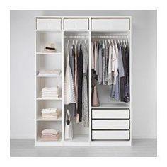 PAX Armario, blanco - blanco - 175x58x236 cm - IKEA