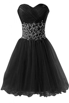 Sunvary Tulle Applique Short Homecoming Prom Dresses for Juniors Evening Bridesmaid Gowns Sweety 16 Pageant Dance Dress- US Size 6- Black Sunvary http://www.amazon.com/dp/B00F2AZWGK/ref=cm_sw_r_pi_dp_teCXub1BK3T2X