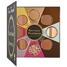 I can't get enough of this eight-piece bronzer palette. Use it to contour the face and create a gorgeous, allover glow. #TooFaced #Sephora #Contouring