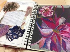 oil pastel on black paper A Level Art Sketchbook, Sketchbook Layout, Textiles Sketchbook, Artist Sketchbook, Sketchbook Pages, Sketchbook Inspiration, Sketchbook Ideas, Fashion Sketchbook, Art Portfolio