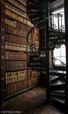 "wanderthewood: ""The Long Room - Trinity College Old Library, Dublin, Ireland by Theunis Viljoen """