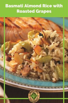This easy basmati rice recipe, with delicious flavor from almonds and grapes from California, and seasoned with lemon, makes the perfect simple side dish. #basmatiricerecipes #basmatirice #basmatiricerecipeseasy #basmati #easy #best #sidedishes #seasoned #flavored #lemon #simple #fordinner #sweet #sidedishessimple Side Dishes Easy, Side Dish Recipes, Healthy Chicken Recipes, Vegetarian Recipes, Basmati Rice Recipes, Grape Recipes, California Food, Warm Food, Winter Recipes