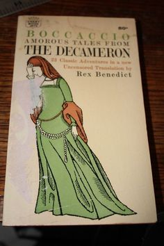 vintage paperback book THE DECAMERON POSSIBLE ED GOREY COVER