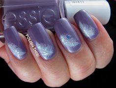 Polish This!: Feathers with Essie Warm & Toasty Turtleneck and mail from Adenina