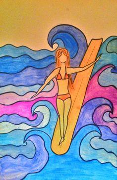 by Sandra Moncusi #surf #surfing  #surfart