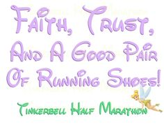 Tinkerbell Half Marathon Disney Running Costume DIY Printable Image for Iron on Transfers. $4.00, via Etsy.