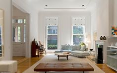 Brooklyn Heights Gothic Revival, living room,  1000 architects