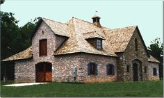 Brick and stone stable