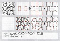 Decomonds - tangle pattern by perfectly4med, via Flickr