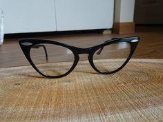 f3a85f80c78 Vintage Shuron Black Cat Eye Eyeglasses Frames