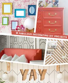 We have some great DIY projects for you to try here: http://www.bhg.com/blogs/better-homes-and-gardens-style-blog/2014/07/10/decorating-diy-projects/?socsrc=bhgpin080214diyprojects