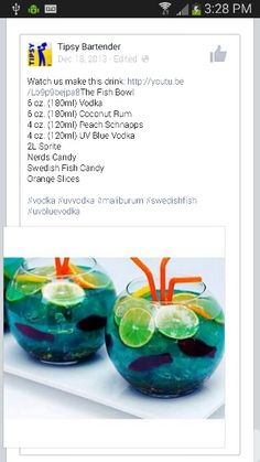 Pics for fish bowl drink recipe for Fish bowl recipe