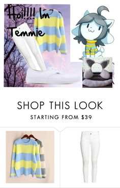 """Temmie Cosplay"" by mintymagic74 ❤ liked on Polyvore featuring H&M and Vans"