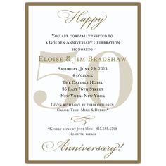 129 Best 50th Wedding Anniversary Invitations Images Anniversary