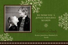 Mixbook Drifting Snowflakes Christmas Cards (30 cards for 37 bucks)