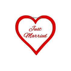 Just Married Heart  Wall Decal  Car Decal Wall Decor by Vinyl2Envy, $9.00