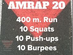 AMRAP 20 | Posted By: CustomWeightLossProgram.com
