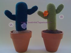 Come fare piantine grasse a uncinetto Cactus Amigurumi, Amigurumi Free, Crochet Cactus, Cacti And Succulents, Cactus Plants, Terra, 3d, Google, Crochet Jacket