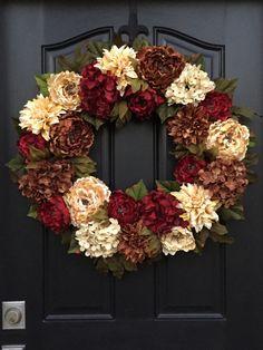 WREATH Holiday Wreaths XL Fall Wreath by twoinspireyou on Etsy