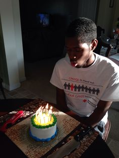 On his bday