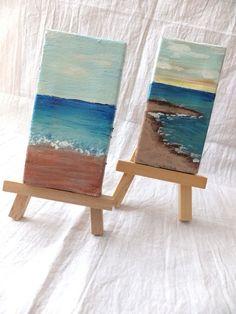 http://bluepurpleandscarlett.com/2013/03/03/miniature-sea-paintings DIY