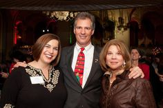 WONDER DRUG screenwriter Caitlin McCarthy; US Senator Scott Brown; and Andrea Goldstein (former President of DES Action USA) at the Senator's 2010 Christmas Party.