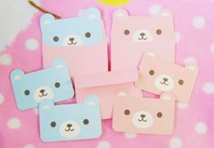Cute kawaii notes