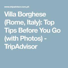 Villa Borghese (Rome, Italy): Top Tips Before You Go (with Photos) - TripAdvisor
