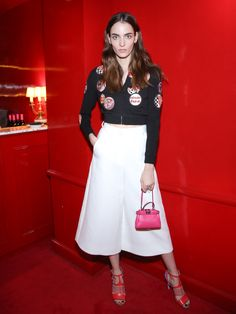 Zuzanna Bjoch at the Fendi and Thierry Lasry collection launch after-party at Castel, Paris