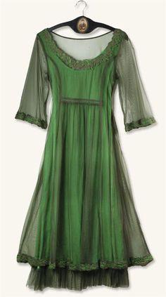 SMOKY EMERALD DRESS
