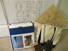Building a new house, or starting a big project? I used a binder and had dividers for everything we had to select when building our house. Also had a tote bag with samples to make selections easier when we went to a supplier or store! Home Building Tips, Building A House, Building Ideas, Renovation Budget, House Blueprints, New House Plans, House Layouts, Fixer Upper, Home Organization