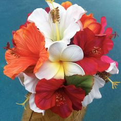 Tropical style bouquet  :  wedding bouquet tropical Il 570xN.329396485 Hibiscus Paradise Bouquet