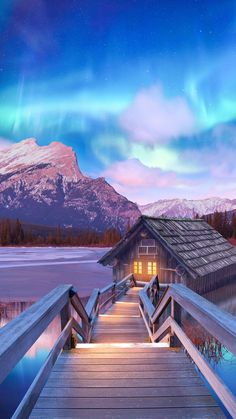 Secret Cottage Winter Nature iPhone Wallpaper - iPhone Wallpapers
